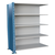 Hallowell H-Post Closed Shelving Unit - 5 Shelf Adder